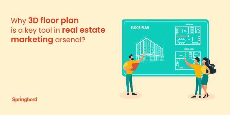 Why 3D floor plan is a key tool in real estate marketing arsenal